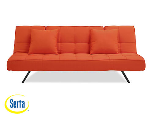 Medium image of copa convertible sofa tangerine by serta   lifestyle