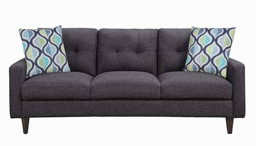 Watsonville Gray Tufted Back Sofa By, Tufted Back Sofa