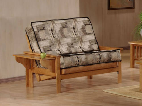 Carmel Twin Lounger Size Natural Futon Set