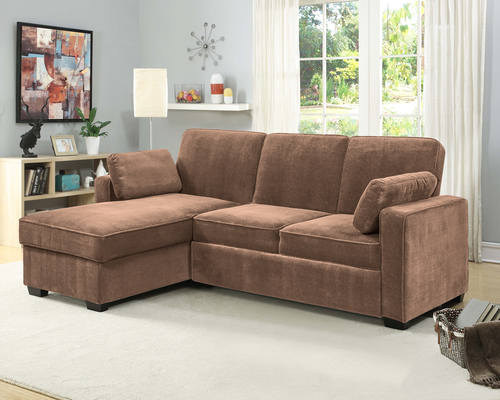 Chaela Sectional Convertible Sofa Light Brown by Serta / Lifestyle