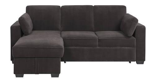 Chaela Sectional Convertible Sofa Dark Grey by Serta / Lifestyle