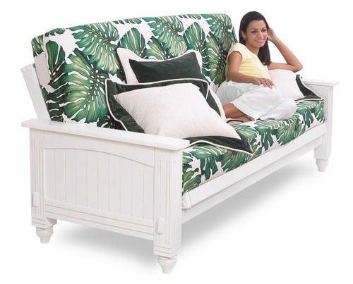 Cottage White Full Futon Set By Lifestyle