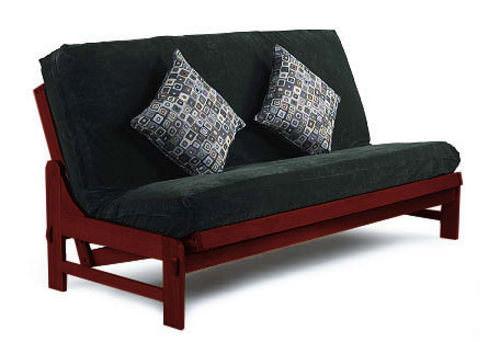 cypress dark cherry futon frame by lifestyle dark cherry futon frame by lifestyle  rh   futonland