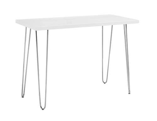Incredible 42 Inch Hairpin Leg Wood Writing Desk White By Walker Edison Interior Design Ideas Skatsoteloinfo