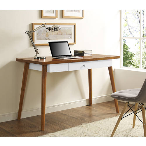 48 Inch Mid Century Wood Computer Desk