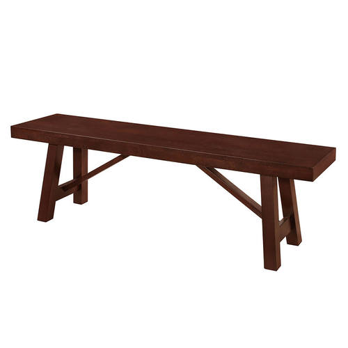60 Inch Solid Wood Trestle Dining Bench Espresso