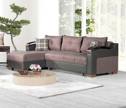 Deluxe Kalinka Brown Convertible Sectional By Casamode - Divans convertibles