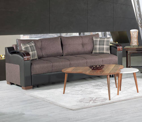 Divan Deluxe Kalinka Brown Convertible Sofa
