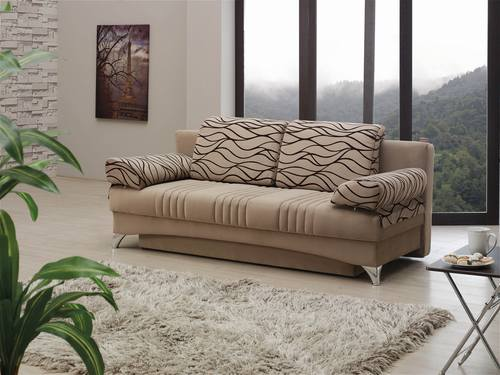 Daisy Light Brown Sofa Bed