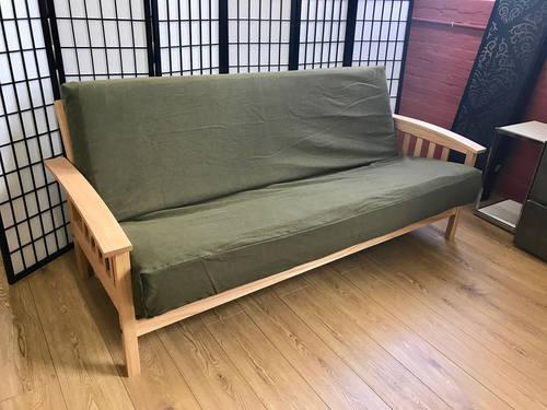 premium olive denim futon cover queen olive denim futon cover queen  rh   futonland