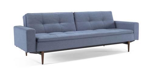 Dublexo Deluxe Sofa W/Arms Soft Indigo Blue By Innovation