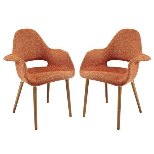 Aegis Dining Armchair Set Of 2 Orange By Modern Living