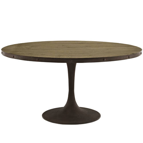 Drive 60 Inch Round Wood Top Dining Table Brown By Modern Living