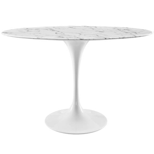 Lippa Inch Oval Artificial Marble Dining Table White By Modern Living - 48 inch oval dining table