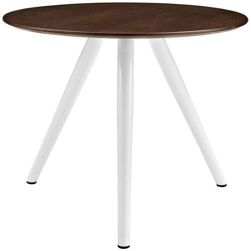 Lippa 36 Inch Round Walnut Dining Table With Tripod Base Walnut By Modway