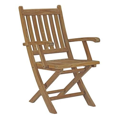 Marina Outdoor Patio Teak Folding Chair Natural