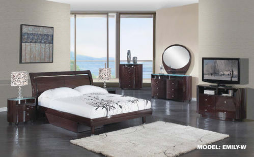 Emily Wenge Glossy Bedroom Set