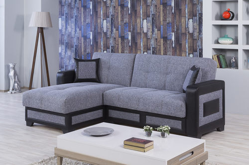 Form Moon Gray Sectional Sofa by Casamode