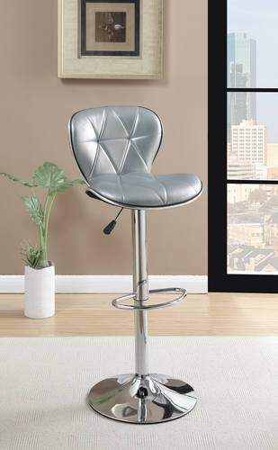 F1623 Silver Barstool By Poundex
