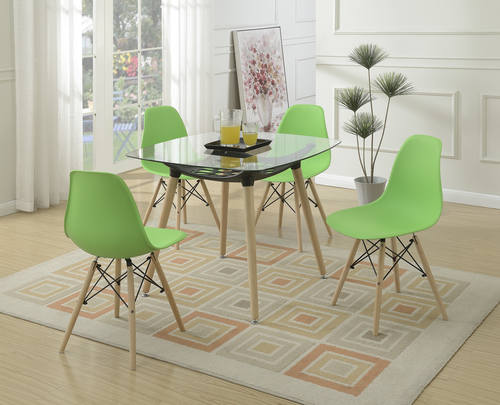 Green Dining Chair by Poundex