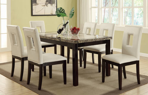 F2094/F1052 7 Pcs Dining Set By Poundex