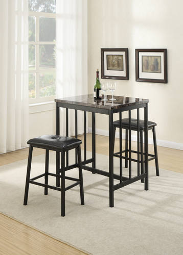 counter dining modern table sets of black karille product furniture america height home garden