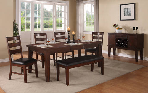 F2207 Antique Walnut Dining Table By Poundex