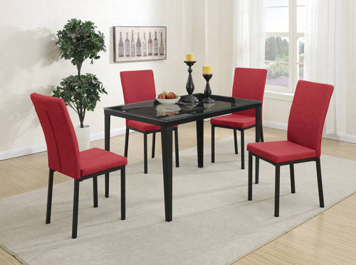 Red Dining Chair Set of 2 by Poundex