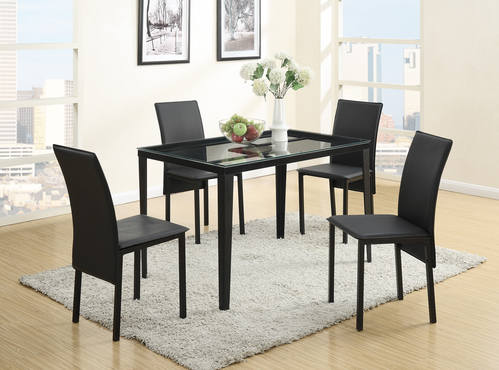 100074da1d86 F2311 Black Dining Table by Poundex