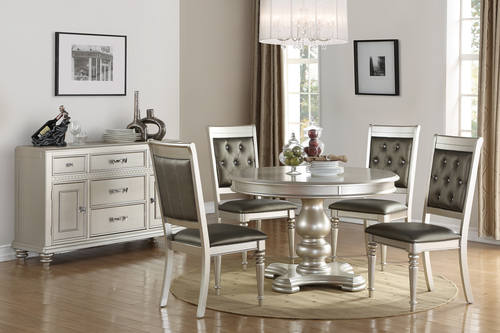 F2429 Silver Dining Table