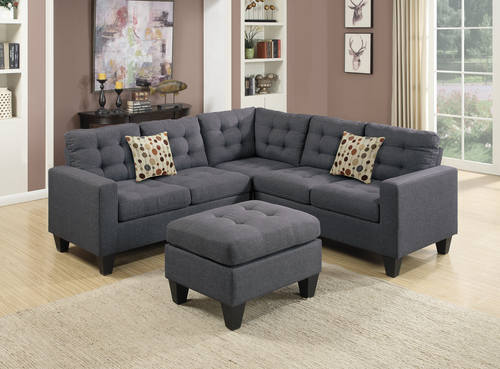 F6935 Blue Gray Sectional Sofa Set