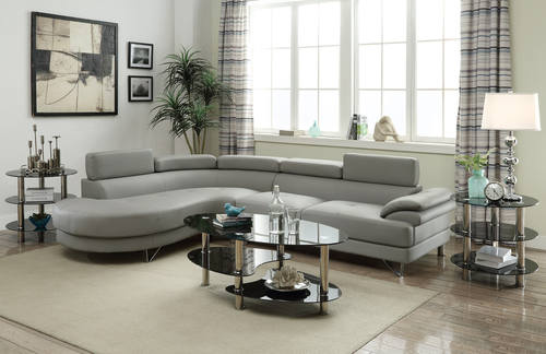 F6984 Gray Sectional Sofa By Poundex Part 62