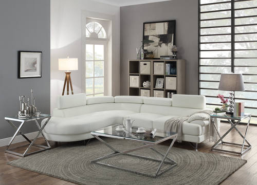 ikea white leather sectional sofa mustard fabric leatherette modern bed decorating ideas