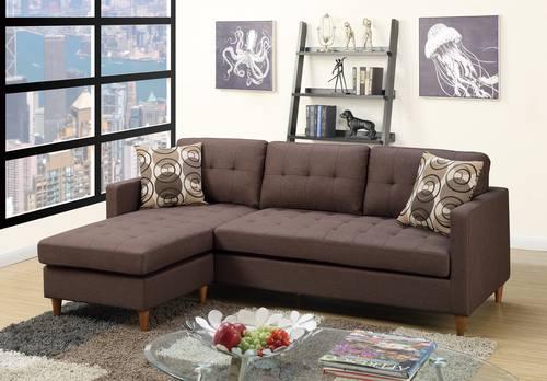 F7086 Chocolate Sectional Sofa