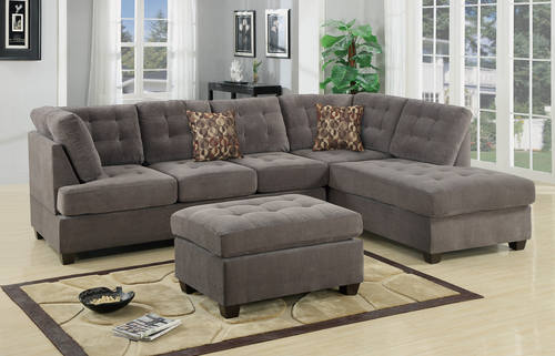 sectional beige furniture poundex sofa cupboard