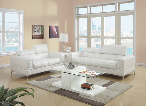 F7240 Cream 2 Pcs Sofa Set