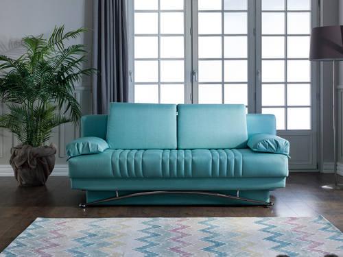 Fantasy Coton Seafoam Green Convertible Sofa Bed