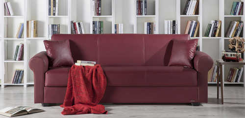 Floris Santa Glory Burgundy Sofa, Love & Chair Set by Sunset