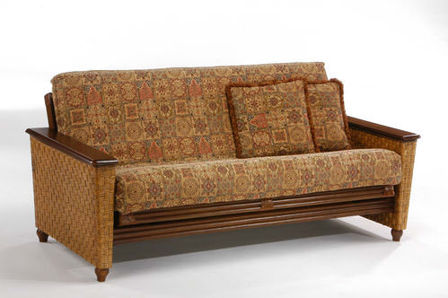 Magnolia Rattan Futon Frame By Night
