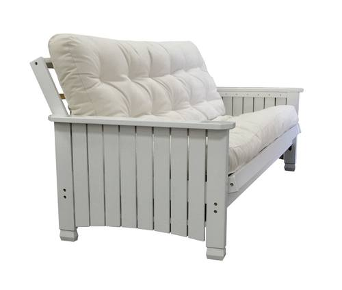 Medium image of charleston  cottage  white full futon frame by gold bond