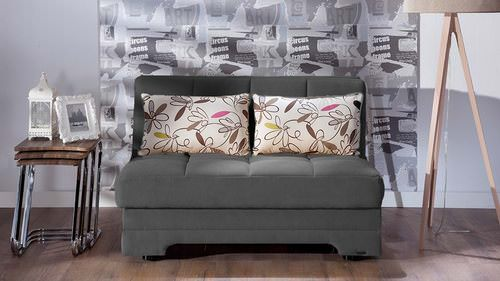 Twist Optimum Grey Brown Tone Loveseat Sleeper By Sunset