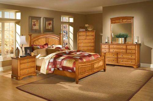 Laurel Heights Oak Finish Bedroom Set By Homelegance