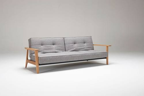 Superbe Splitback Sofa Bed W/Frej Arms Mixed Dance Gray