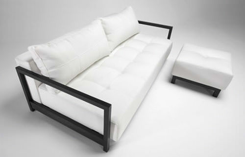 Bifrost Deluxe Excess Lounger Sofa Bed White Leather Textile By Innovation
