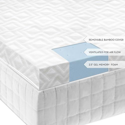 outlet store 75074 0bcb3 2.5 Inch Gel Memory Foam Mattress Topper by Comfort Pure