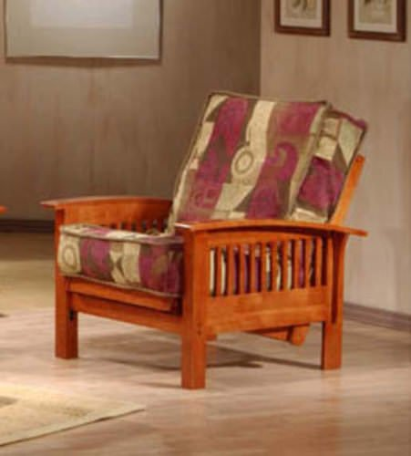 Prima Chair Size Urban Oak Futon Set By