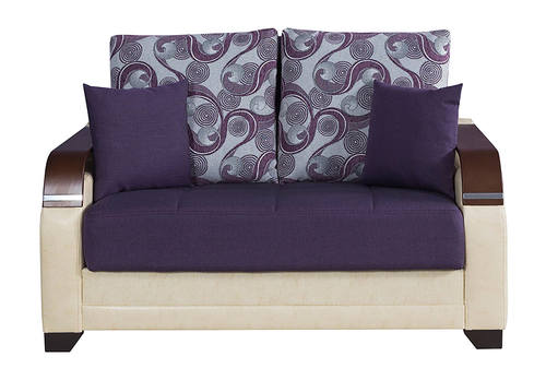Admirable La Reina Moon Dark Purple Convertible Loveseat By Casamode Gmtry Best Dining Table And Chair Ideas Images Gmtryco