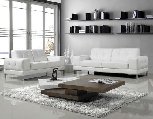 Manhattan Italian White Sofa & Loveseat Set by J&M Furniture
