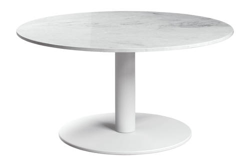 Bleecker High Coffee Table White Marble by Modloft - High Coffee Table White Marble By Modloft