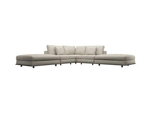 Perry Armless Corner Sectional Sofa Moonbeam